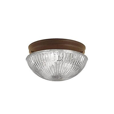 Mathilda 2-Light Flush Mount Finish: Bronze