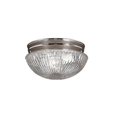Mathilda 2-Light Flush Mount Finish: Chrome