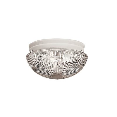 Mathilda 2-Light Flush Mount Finish: Textured White