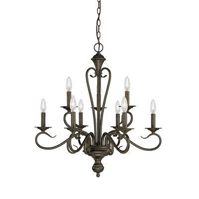 Birchview 9-Light Candle-Style Chandelier Finish: Burnished Gold