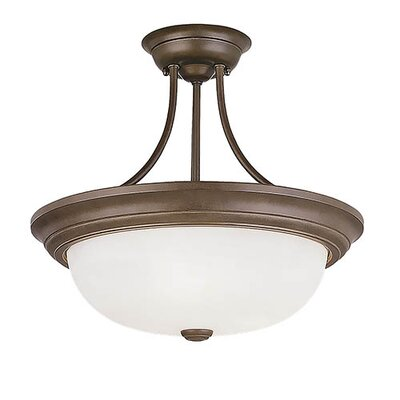 3-Light Semi-Flush Mount Finish: Bronze