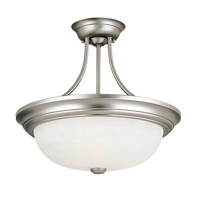 3-Light Semi-Flush Mount Finish: Satin Nickel