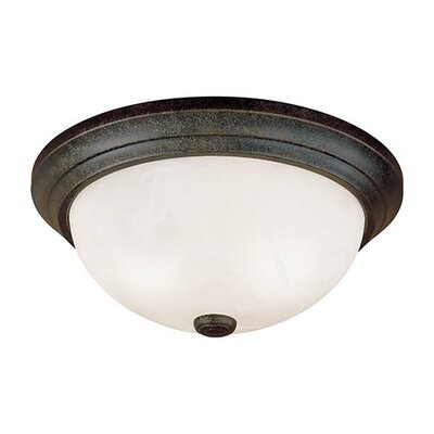 Bridwell 3-Light Flush Mount Finish: Burnished Gold