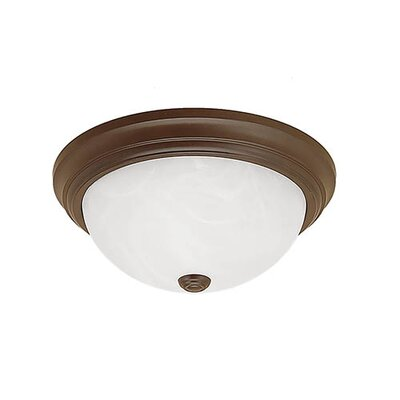 3-Light Flush Mount Finish: Polished Brass