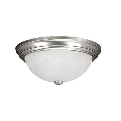 Bridwell 3-Light Flush Mount Finish: Satin Nickel