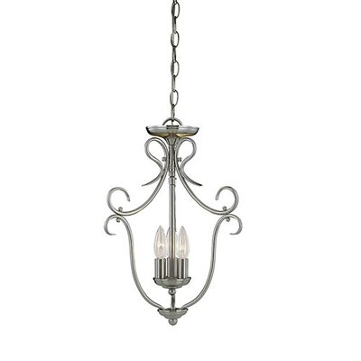 3-Light Pendant Finish: Satin Nickel