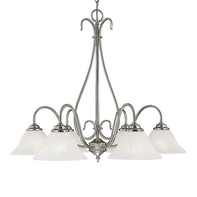 Gilbert 6-Light Shaded Chandelier Finish: Satin Nickel