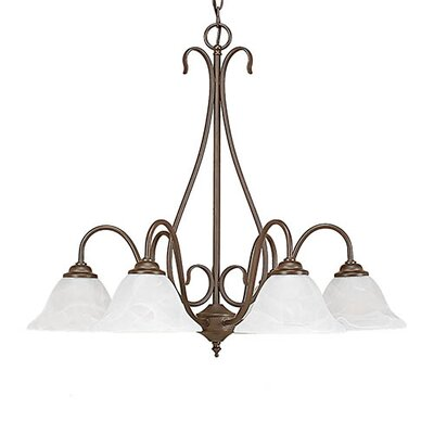 Gilbert 6-Light Shaded Chandelier Finish: Bronze