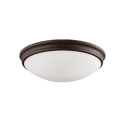 Valley 3-Light Flush Mount Finish: Rubbed Bronze