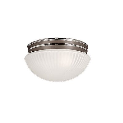 2-Light Flush Mount Finish: Chrome