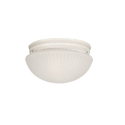 2-Light Flush Mount Finish: White