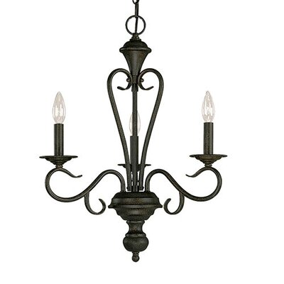 Birchview 3-Light Candle-Style Chandelier Color: Burnished Gold
