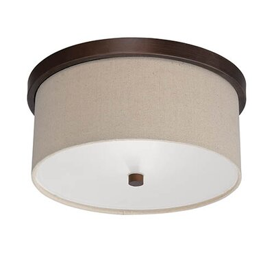Steuben Rubbed Bronze 2-Light Flush Mount