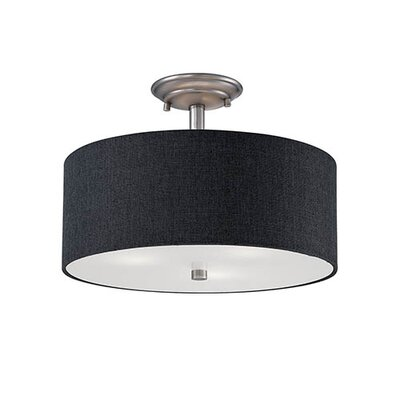 Steuben 3-Light Semi Flush Mount