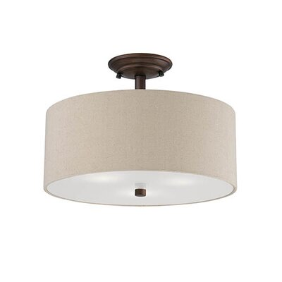 Steuben 3-Light Semi-Flush Mount