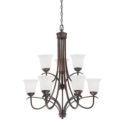 Kingsport 9-Light Shaded Chandelier