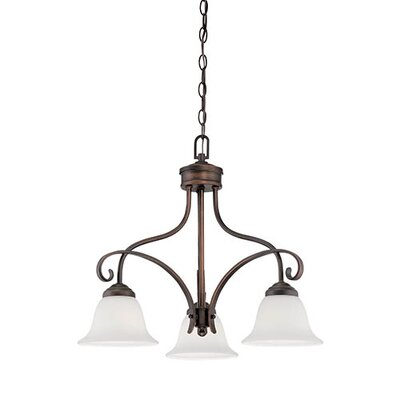 Kingsport 3-Light Shaded Chandelier