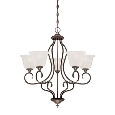 Cleveland 5-Light Shaded Chandelier Finish: Rubbed Bronze