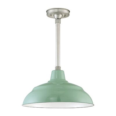 17 Porcelain Bowl Pendant Shade Color: Sea Foam Porcelain