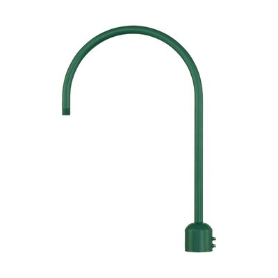 R Series Single Post Adapter Finish: Satin Green