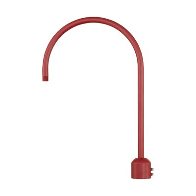 R Series Single Post Adapter Finish: Satin Red