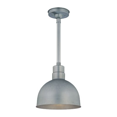 R Series 1-Light Kitchen Pendant Size: 11.5 H x 12 W, Finish: Galvanized