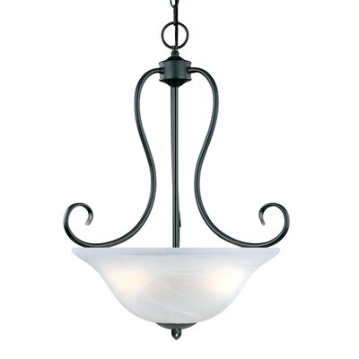 Greenport 3-Light Pendant Finish: Black