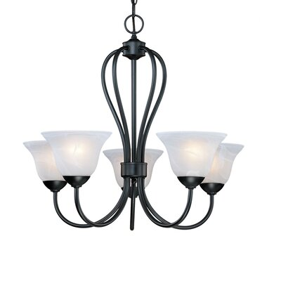 Greenport 5-Light Shaded Chandelier Finish: Black