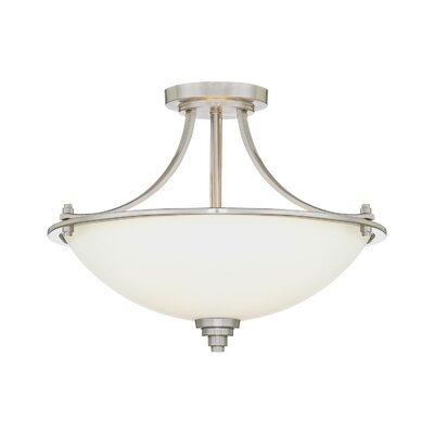 Castano 3-Light White Semi-Flush Mount