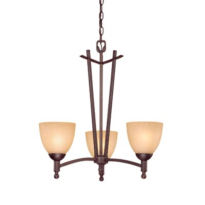 Racine 3-Light Shaded Chandelier