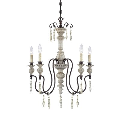 Grateron 5-Light Candle-Style Chandelier