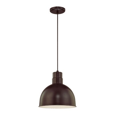 Theta 1-Light Kitchen Pendant Finish: Architectural Bronze