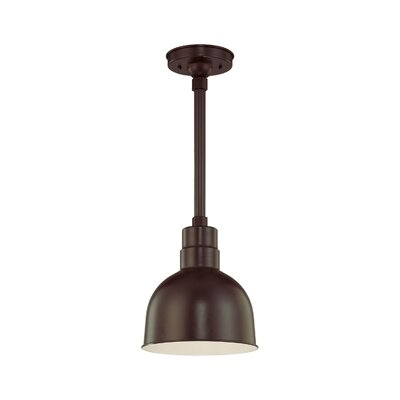 R Series 1-Light Kitchen Pendant Size: 11 H x 10 W, Finish: Architectural Bronze