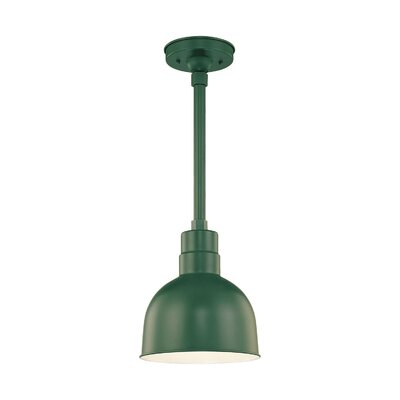 R Series 1-Light Kitchen Pendant Size: 11 H x 10 W, Finish: Satin Green
