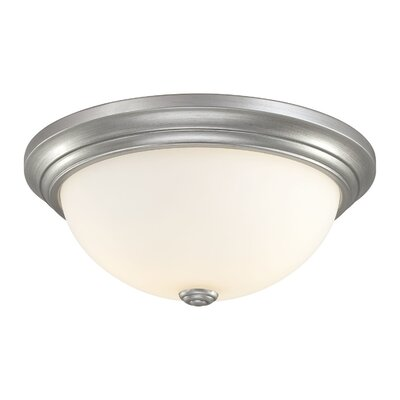 Brittain 3-Light Flush Mount Finish: Rubbed Silver