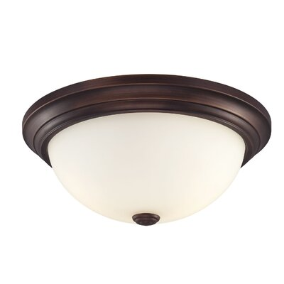 Brittain 3-Light Flush Mount Finish: Rubbed Bronze