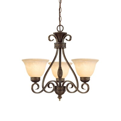 Alma 3-Light Shaded Chandelier