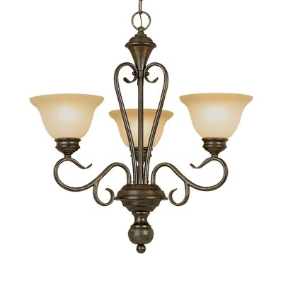Birchview 3-Light Shaded Chandelier