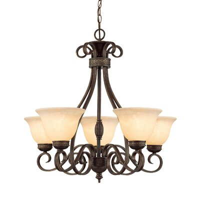 Whelchel 5-Light Shaded Chandelier