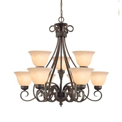 Alma 9-Light Shaded Chandelier
