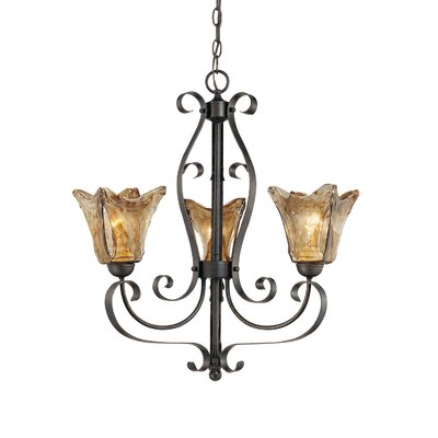 Whaley 3-Light Glass Shaded Chandelier