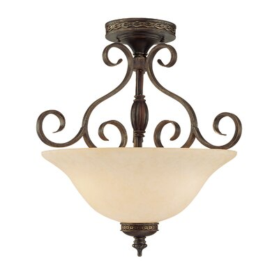 Whelchel 3-Light Semi-Flush Mount