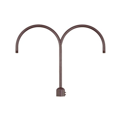 R Series Double Post Adapter Finish: Architectural Bronze