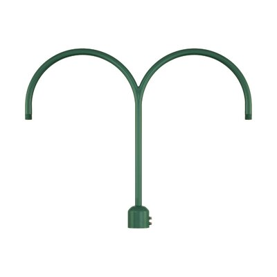 R Series Double Post Adapter Finish: Satin Green