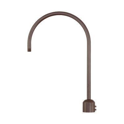 R Series Single Post Adapter Finish: Architectural Bronze
