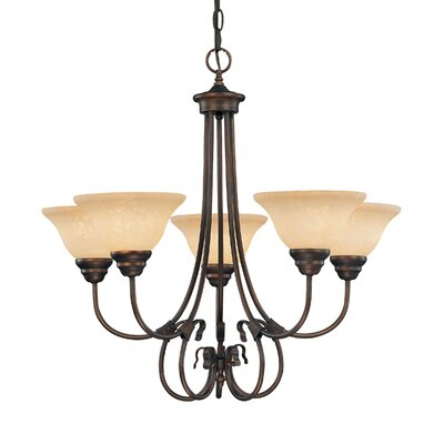 Fulton 5-Light Shaded Chandelier