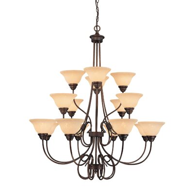 Fulton 16-Light Shaded Chandelier