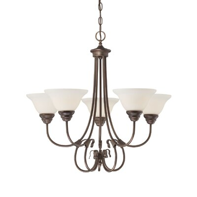 Fulton 5-Light Semi Flush Mount Finish: Rubbed Bronze
