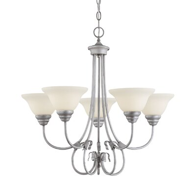 Fulton 5-Light Semi Flush Mount Finish: Rubbed Silver