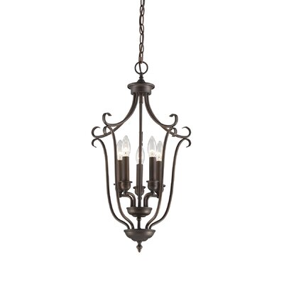 Fulton 5-Light Foyer Pendant Finish: Rubbed Bronze